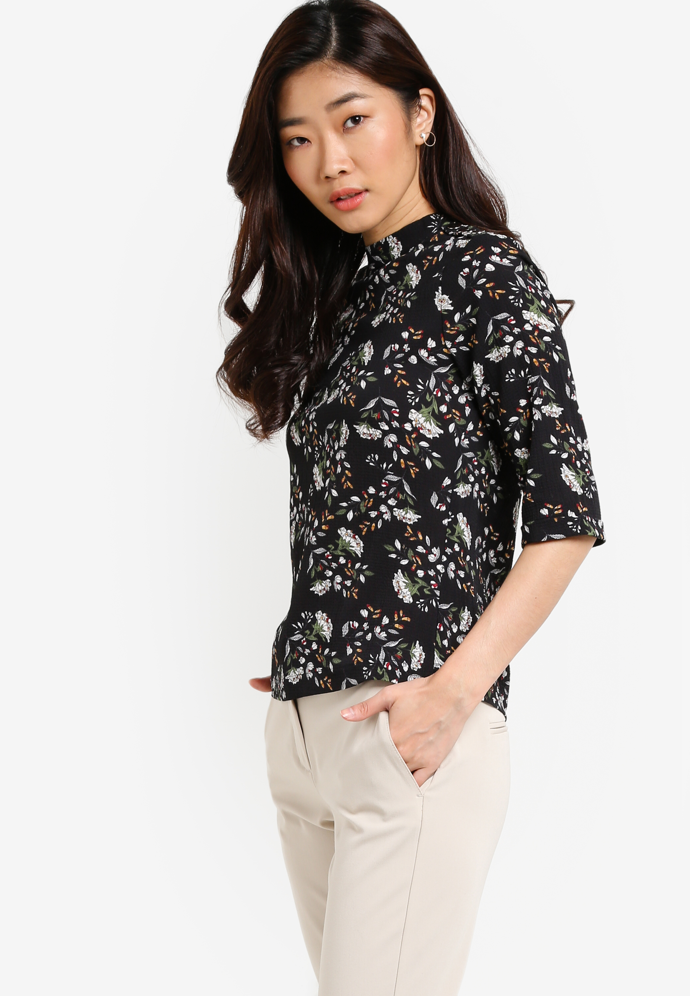 ZALORA | Collection Top With Snap Button Detail | Shoppr